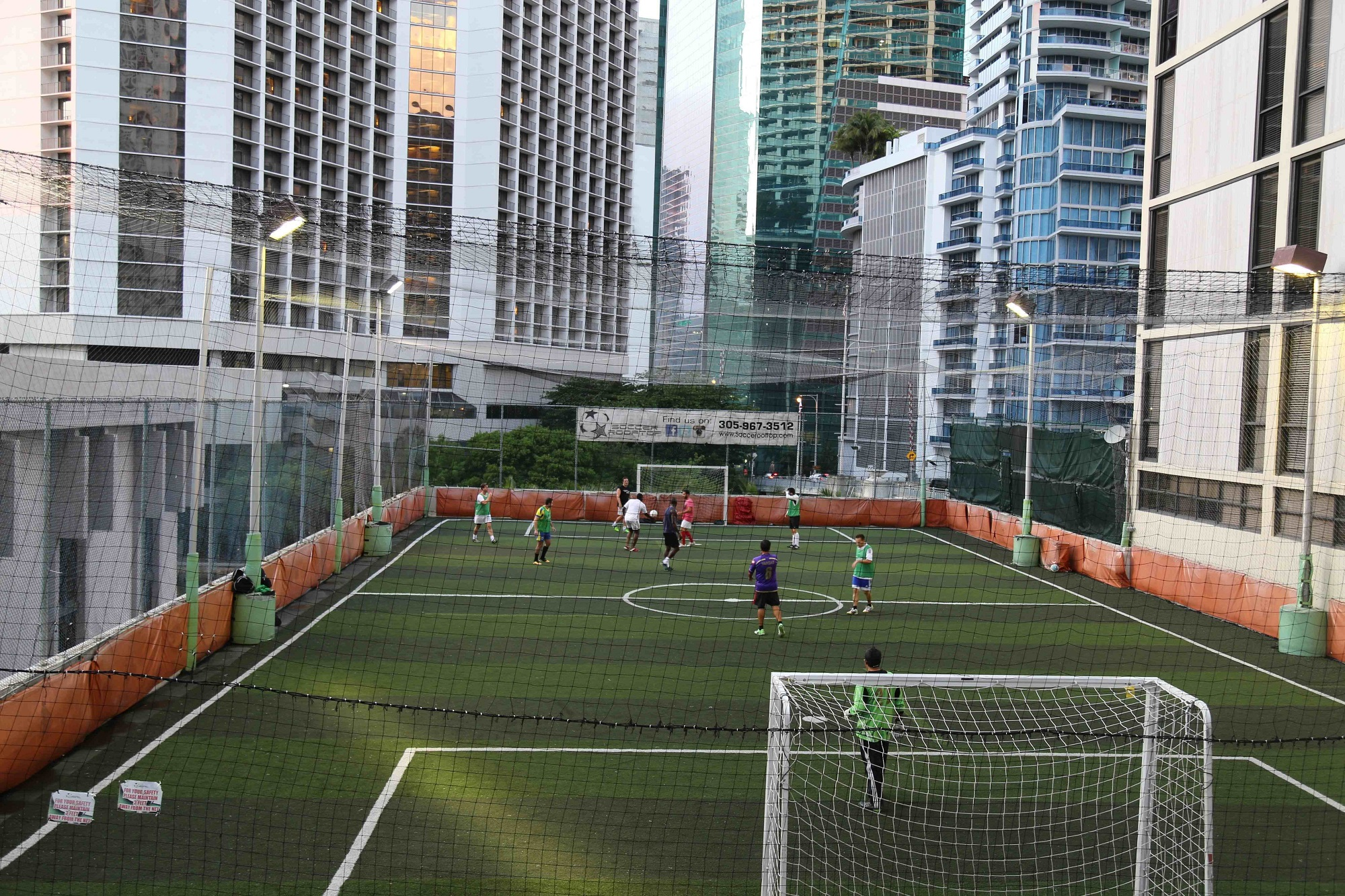 Rooftop Soccer Miami The Soccer Arena